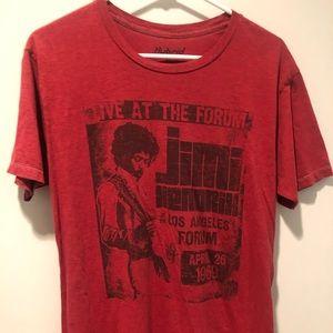 Hybrid Jimi Hendrix Shirt Red Men's Medium